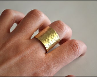 Minimalist Ring, Cuff Ring, Everyday Ring, Simple Ring, Silver Ring, Brass Ring, 18K gold plated