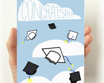 Congrats Graduation Card, Graduation Cards, Card for Grads, high school graduation, college graduation, Graduation Gifts, Dads and Grads