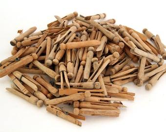 100+ Vintage Wooden Peg Clothes Pins