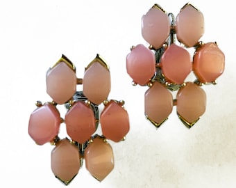 Coro Pink Thermoset Earrings