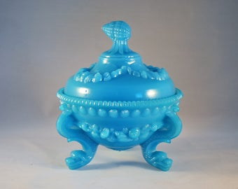 Gorgeous Portieux Vallerysthal of France Shell and Dolphin Covered Candy Dish