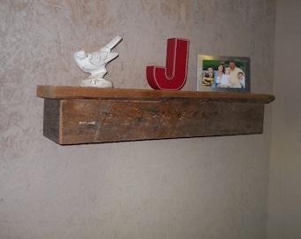 Rustic wood shelf Reclaimed wood