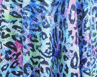 Nylon lycra fabric spandex stretch material - HOLOGRAPHIC cheetah design - 16.5 X 46 inches - 4 way stretch swimsuit weight
