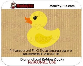 Rubber Ducky clip art (Personal & Commercial Use) INSTANT DOWNLOAD