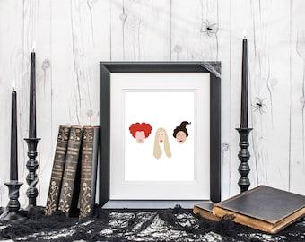 hocus pocus artwork - hocus pocus quote - sanderson sisters print - halloween art print - hocus pocus print - hocus pocus illustration -