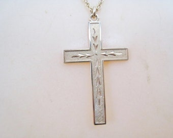 Engraved Cross GF with Gold Filled Chain