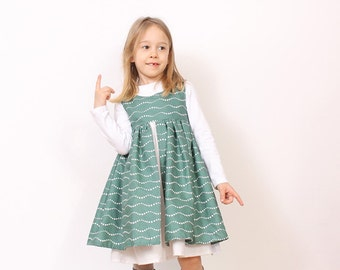 Nohara DRESS sewing pattern for girls - children pdf sewing pattern - INSTANT DOWNLOAD