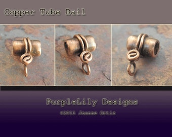 Handmade Copper tube bails, PurpleLily Designs, SRA