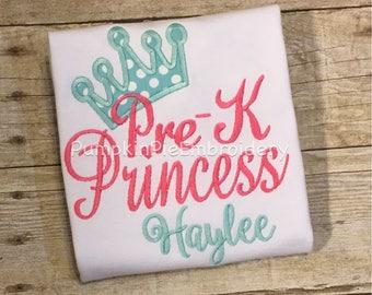 Pre-K Princess Shirt