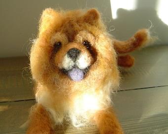 Chow Chow Memorial Sculpture needle felted dog pet portrait
