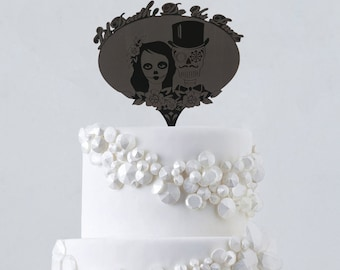sugar wedding cake toppers wedding sugar skulls cake toppers and groom mexican day 20592