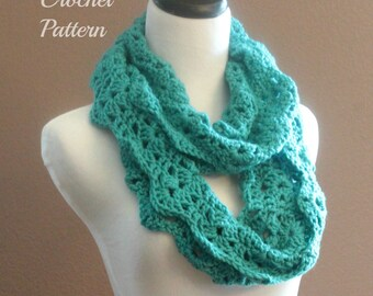 CROCHET PATTERN - Chunky Crochet Infinity Scarf Pattern, Infinity Cowl Pattern, Circle Scarf Pattern