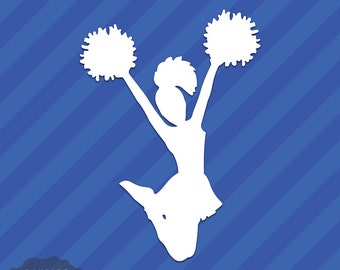 Cheerleader Vinyl Decal Sticker Cheerleading Squad Sports School Spirit