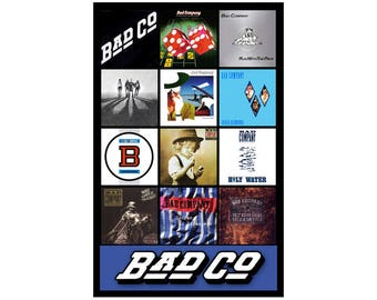 """BAD COMPANY album discography magnet (4.5"""" x 3.5"""") paul rodgers led zeppelin"""