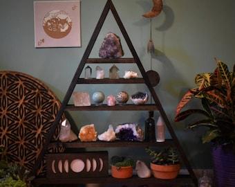 Huge, Assemble Yourself Backless Triangle Crystal Display Shelf