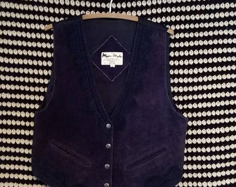 Leather western 80s vest