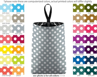 Auto Trash - Mini Polka Dots - PICK YOUR COLOR - Car Trash Bag Car Accessory Automobile Caddy Trash Bin Garbage Floral Custom