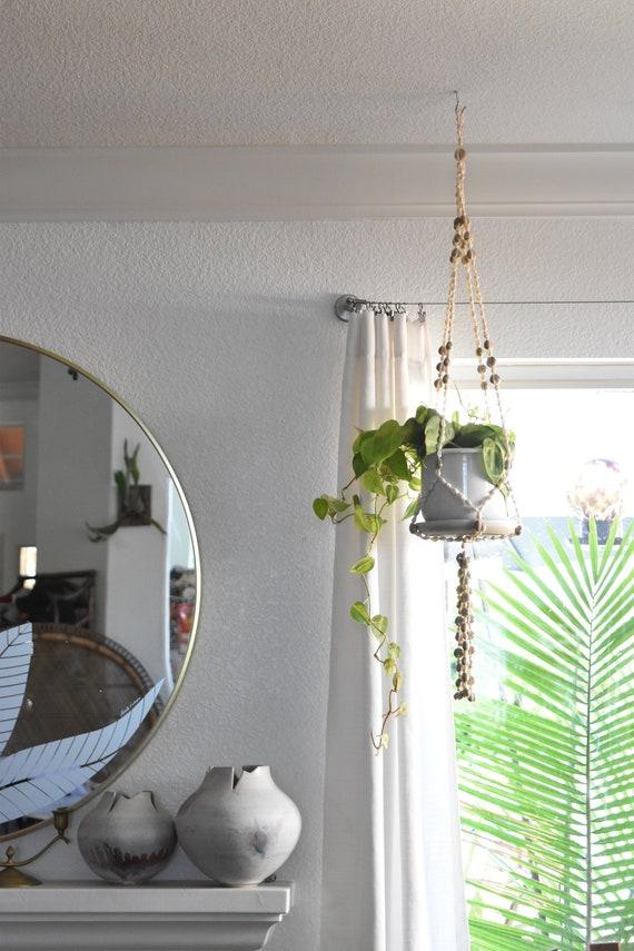 seashell shell macrame planter hanger / indoor plant holder / hanging pot / bohemian