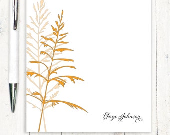 personalized notePAD - FANCIFUL FERN - stationery - stationary - nature - leaves - floral - botanical