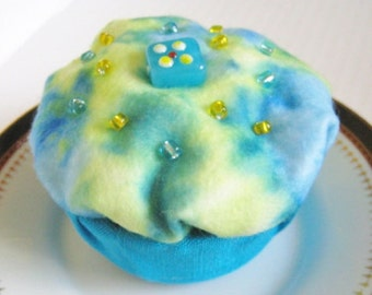 Trinket Box, Tie-Dye Trinket Box, Cupcake Box, Felt Box, Keepsake Box, Beaded Box, Small Box