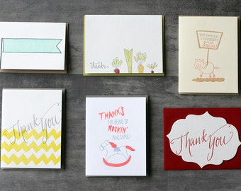 Choose Any Six - Six Pack of Letterpress Cards