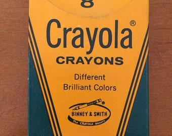 Vintage 1970s Crayola Crayons Box of 8 New in Box Unused
