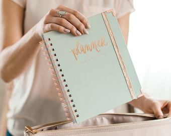 Grey and Rose Gold Planner | August 2018 - July 2019 2018 Planner 2018 Daily Planner Weekly Planner Calendar Bullet Journal 2018 Agenda