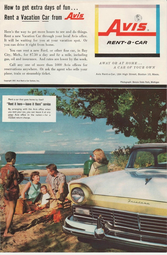 Avis Ads From 1950s Ford Fairlane 1950s Cars 1950s Ads
