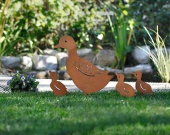 Duck Family,Metal Yard Art,Metal Garden Art,Yard Decor,Garden Decor