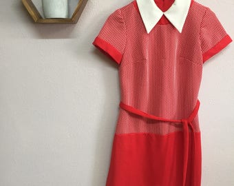 Vintage Size Medium 1960s Mod Dress