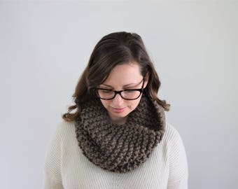 Knit Cowl // Chunky Knit Scarf // Gift for Her // Chunky Cowl // Knitted Cowl // Knit Scarf