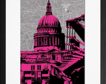 St Paul's Cathedral, London - Hot Pink