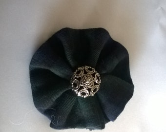 Green and Blue Rosette, Blackwatch Tartan, Underworld Galloglach Clan