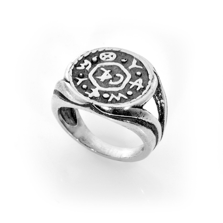 Good Living & Livelihood King Solomon Sterling Silver Ring ...