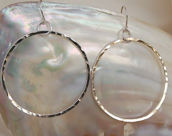 Signature Fine Silver Hoops - Large