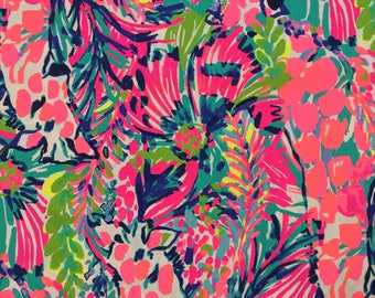 "multi gumbo limbo dobby cotton fabric square 18""x18"" ~ lilly spring 2018 ~ lilly pulitzer"