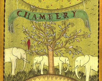 "Artist's book. ""Chambery alphabet"". Poetry of J - P Gavard-Perret."