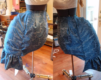 1880s Victorian Lobster Bustle. Custom. Spring Steel  or Reed Boning . Any Size.