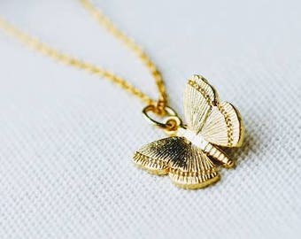 Butterfly Necklace, Gold Necklace, Gold Filled Jewelry, Necklaces, Gold Jewelry, Butterfly Jewelry, Butterflies, Valentine's Gift For Her,