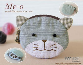 "Kit & tutorial couture ""Meo - O"" retro purse - 8.5 cm X 7 cm - BEGINNER"