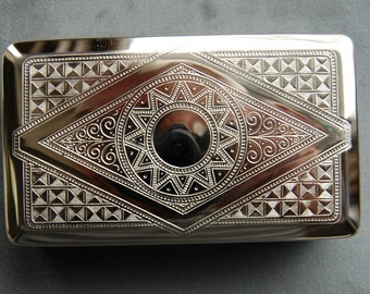 Vintage German Silver Box, Tobacco Tin, Stash Box, Handy Pocket Container, Made in Germany by Hansaware 108/N 226