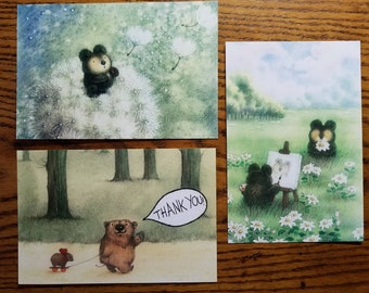 6 EVERYDAY POSTCARDS by Mary Melcher