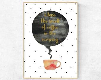 Coffee kitchen print, Kitchen wall print, Coffee poster, Coffee wall art, But first coffee, Coffee decor kitchen, Coffee quote, Coffee art