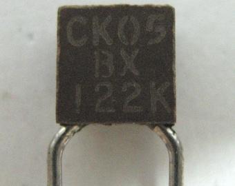 Vintage capacitor 1.22nF 10% 100V multilayer ceramic, military