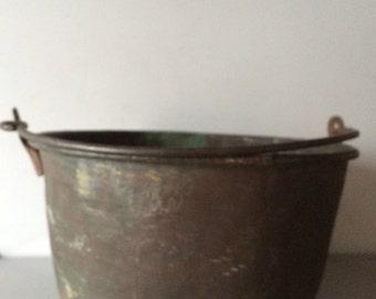 Copper Pail / Antique  Copper Vessel