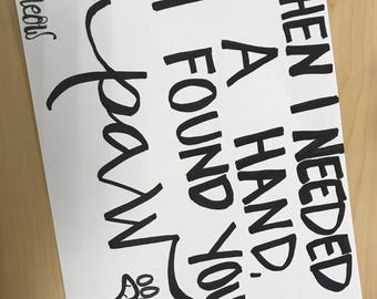 Custom Hand Written Signs and Sayings