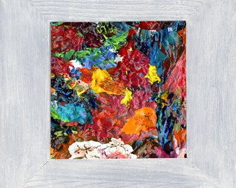 The Fool on the Hill  - Mini Abstract 3 • includes Hand-Painted Frame - by Dianne Masters Hare