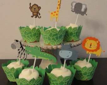 Jungle Cupcake Toppers/Wrappers