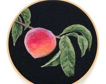 """Peach Sprig - 7"""" Hoop"""