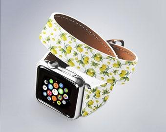 Apple Watch Band 42mm Lemon Print Apple Watch Band 38mm Women Apple Watch Band iWatch Band 38mm Watch Band 42mm Watch Belt AND5046
